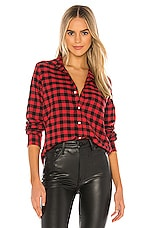 Frank & Eileen Barry Button Down in Large Red & Black Check