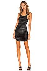 Frankie B All Over Rhinestone Mini Dress in Black