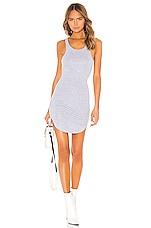 Frankie B Shea Crystals Tank Mini Dress in Heather Grey
