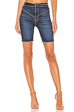 Frankie B Gigi Denim Biker Short in Indigo