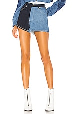 Frankie B Brittany Denim Short in Indigo Multi