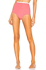 FLAGPOLE Diana High Waisted Bikini Bottom in Flamingo Petal