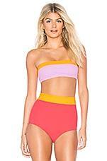 FLAGPOLE Lori Bikini Top in Strawberry, Tangerine & Rose