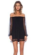 Precioso Dress in Black Dot