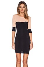 Colorblock Mini Dress in Blush & Black
