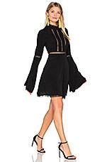 For Love & Lemons Willow Bell Sleeve Dress in Black