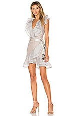 For Love & Lemons Bowie Star Organza Dress in Dove Grey