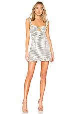 For Love & Lemons Sweetheart Mini Dress in Creme