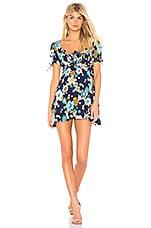 For Love & Lemons Magnolia Mini Dress in Midnight Blossom