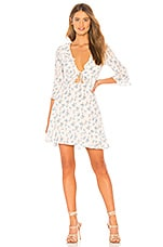 For Love & Lemons X REVOLVE Tie Front Mini Dress in White Floral