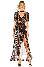 For Love & Lemons X REVOLVE Stella Maxi Dress in Patchwork