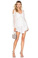 For Love & Lemons Sabina Layered Mini Dress in White