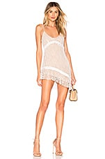 For Love & Lemons Bright Lights Mini Dress in White