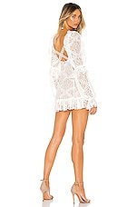 For Love & Lemons Sequoia Lace Mini Dress in White
