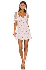 For Love & Lemons Shortcake Puff Sleeve Dress in Strawberry