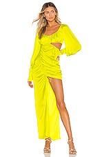 For Love & Lemons Meringue Maxi Dress in Neon Lime