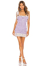 For Love & Lemons Lilac Mini Dress in Lavender