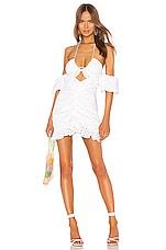 For Love & Lemons Sand Dollar Mini Dress in Blanc