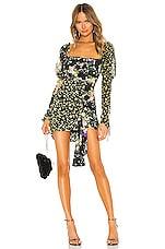 For Love & Lemons Eileen Mini Dress in October Floral
