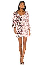 For Love & Lemons Houston Mini Dress in Black Floral