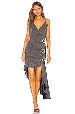 For Love & Lemons Margaux Glitter Maxi Dress in Metallic