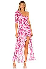 For Love & Lemons Aruba Layered Mini Dress in Cerise