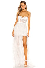 For Love & Lemons X REVOLVE Bustier Gown in White