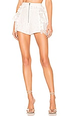 For Love & Lemons Las Palmas Lace Shorts in White
