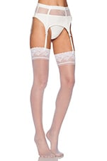 Garter Belt in White