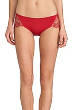Bat Your Lashes Cheeky Pant in Red
