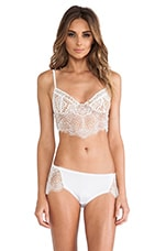 SKIVVIES by For Love & Lemons Bat Your Lashes Underwire Bra in White