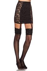 X REVOLVE Lil Kitten Slip Skirt in Black Vine Lace
