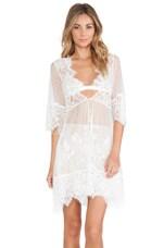 For Love & Lemons Vanity Robe in White