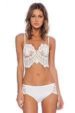 SKIVVIES by For Love & Lemons She's a Knockout Underwire Bra in White