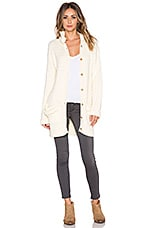 KNITZ by For Love & Lemons Billy Knit Cardigan in Creme