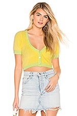 For Love & Lemons Alanis Crop Cardi in Lime