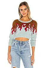 For Love & Lemons Flame Mohair Sweater in Bonfire