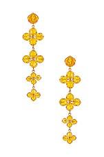 For Love & Lemons West End Tiered Jewel Earrings in Yellow