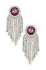 For Love & Lemons Amelie Earrings in Lavender