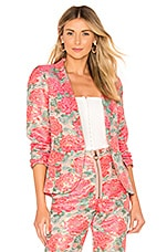 For Love & Lemons Jackpot Brocade Blazer in Floral