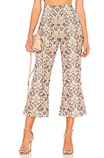 For Love & Lemons Brocade Flared Pant in Ivory Floral