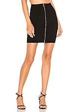 For Love & Lemons Harley Zipper Mini Skirt in Black