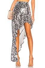 For Love & Lemons Showtime Maxi Skirt in Sparkle