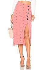 For Love & Lemons X REVOLVE Midi Skirt in Pink Dot