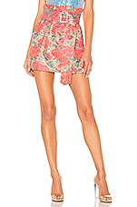 For Love & Lemons Jackpot Mini Skirt in Floral