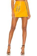 For Love & Lemons Jawbreaker Mini Skirt in Saffron