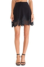 Gilly Girl Mini Skirt in Black