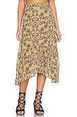 Pia Midi Skirt in Mustard