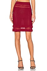 Rivington Mini Skirt in Raspberry