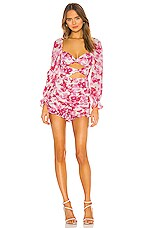 For Love & Lemons X REVOLVE Oahu Romper in Cerise